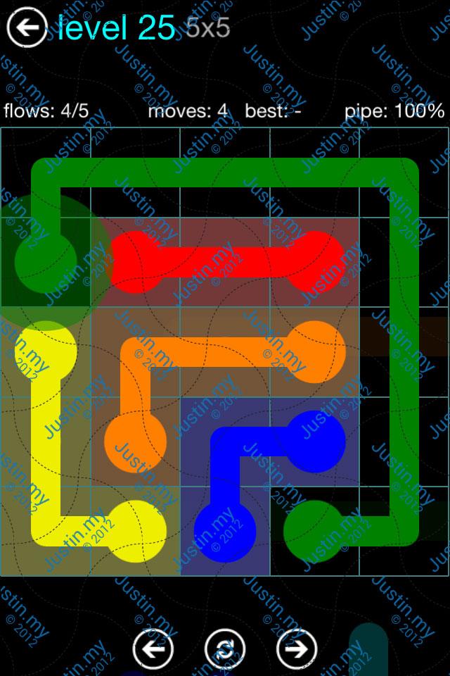 Flow Game Blue Pack 5x5 Level 25