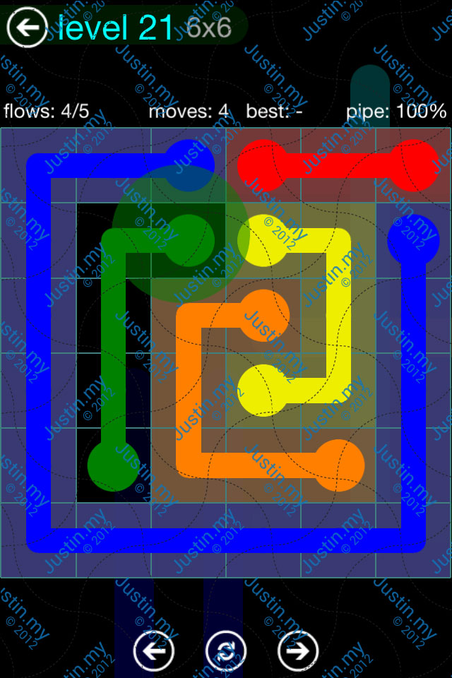 Flow Game Blue Pack 6x6 Level 20