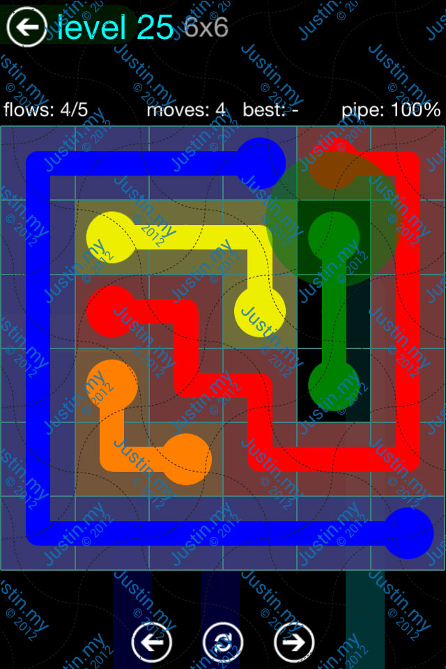 Flow Game Blue Pack 6x6 Level 24