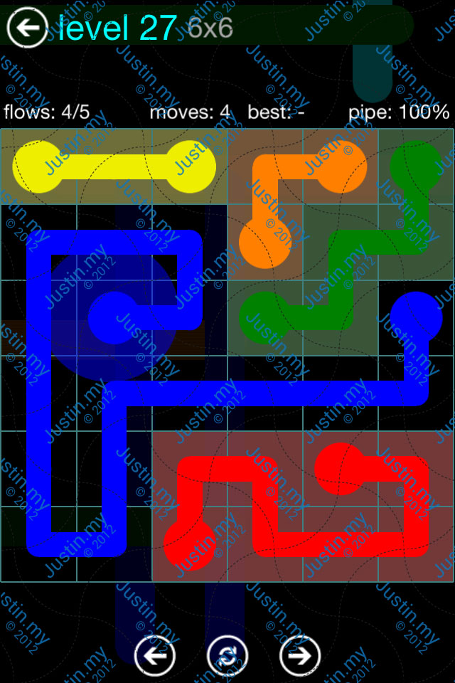 Flow Game Blue Pack 6x6 Level 26