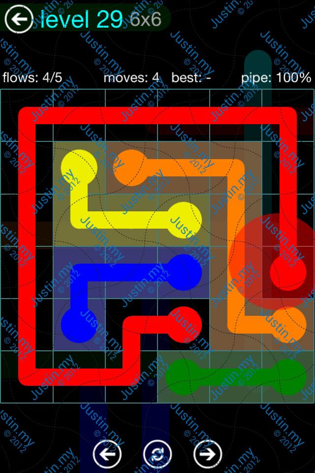 Flow Game Blue Pack 6x6 Level 28