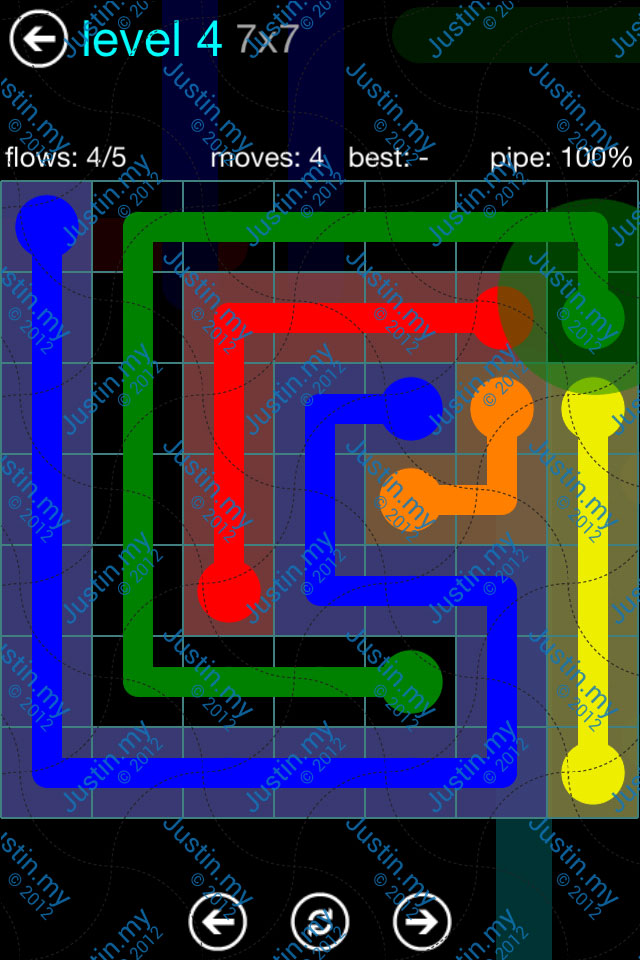 Flow Game Blue Pack 7x7 Level 03