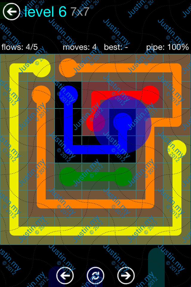 Flow Game Blue Pack 7x7 Level 05