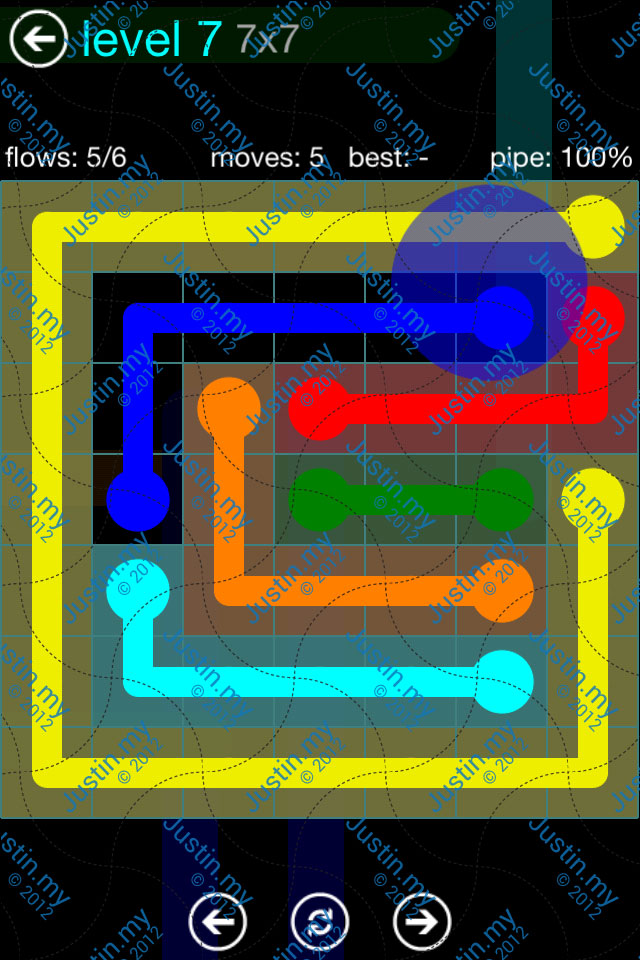 Flow Game Blue Pack 7x7 Level 06
