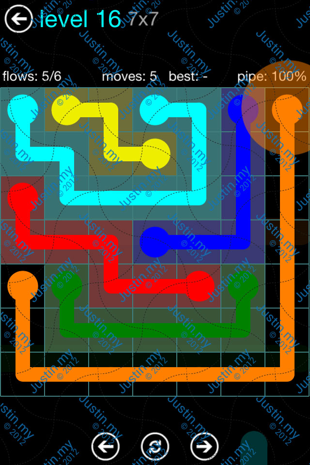Flow Game Blue Pack 7x7 Level 15