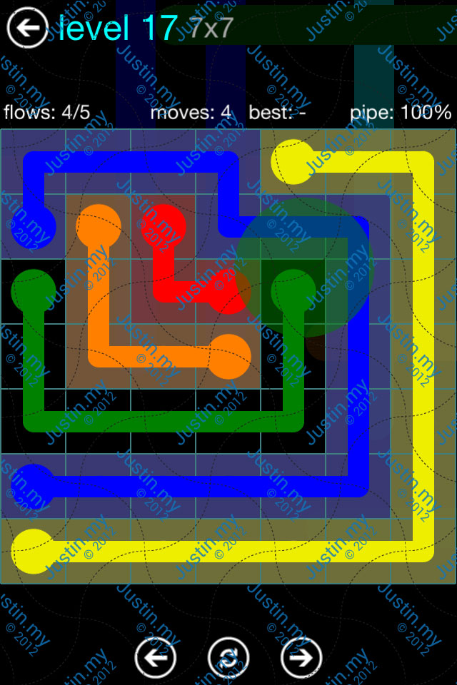Flow Game Blue Pack 7x7 Level 16