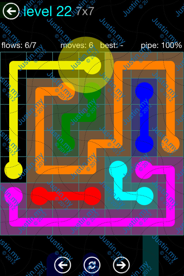 Flow Game Blue Pack 7x7 Level 21