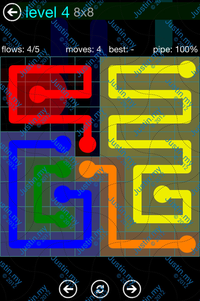 Flow Game Blue Pack 8x8 Level 03