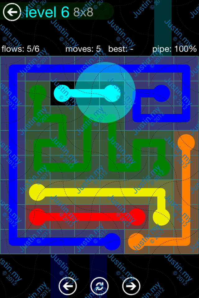 Flow Game Blue Pack 8x8 Level 05