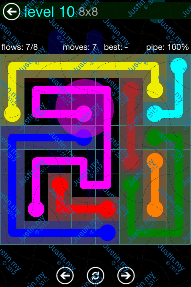 Flow Game Blue Pack 8x8 Level 09