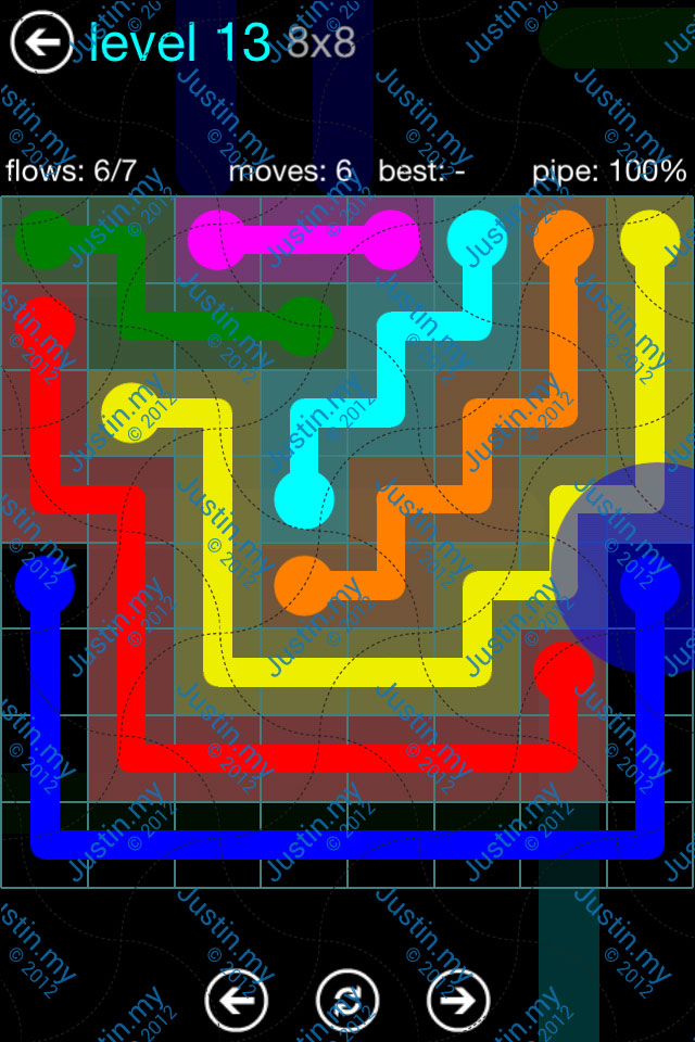 Flow Game Blue Pack 8x8 Level 12