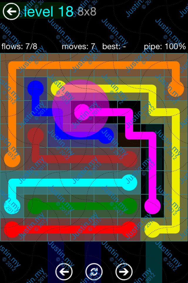Flow Game Blue Pack 8x8 Level 17