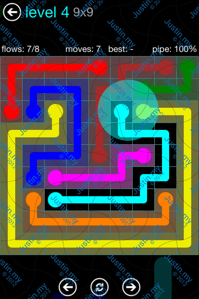 Flow Game Blue Pack 9x9 Level 03