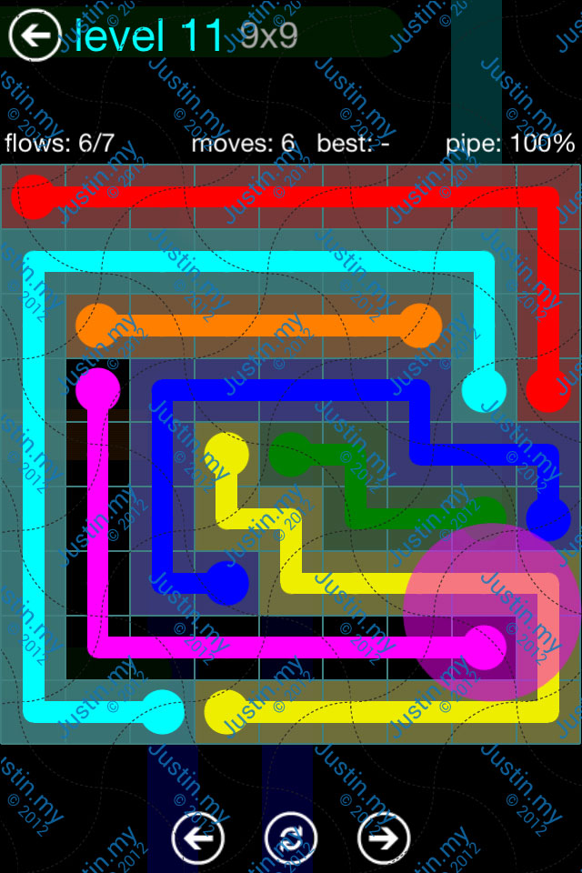 Flow Game Blue Pack 9x9 Level 10