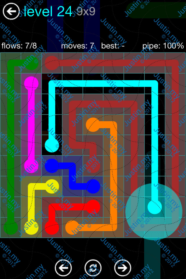 Flow Game Blue Pack 9x9 Level 24
