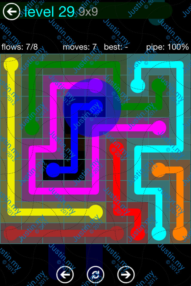 Flow Game Blue Pack 9x9 Level 29