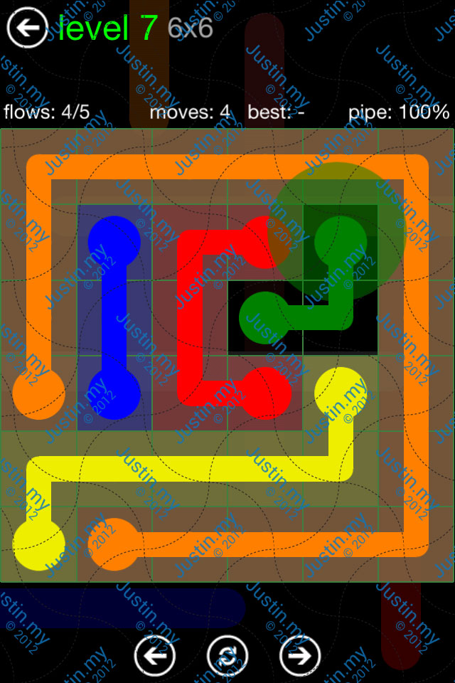 Flow Game Green Pack 6x6 Level 07