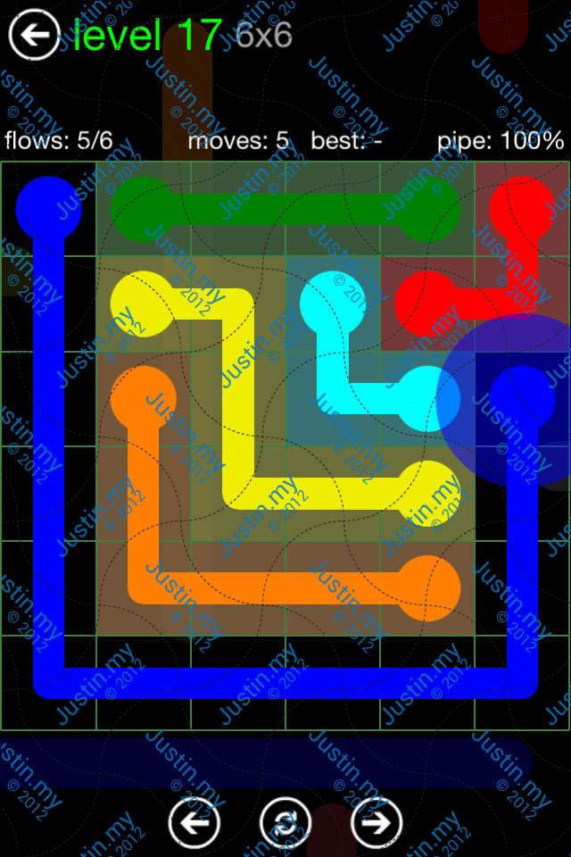 Flow Game Green Pack 6x6 Level 17