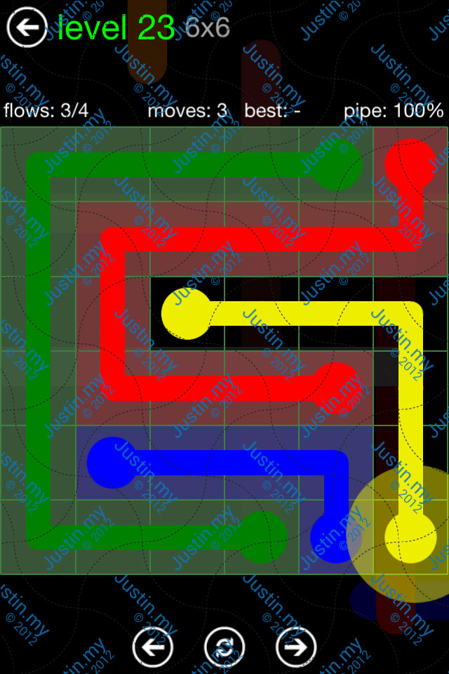 Flow Game Green Pack 6x6 Level 23