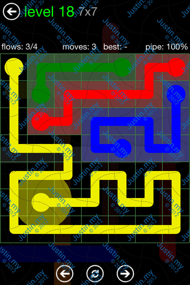 Flow Game Green Pack 7x7 Level 18