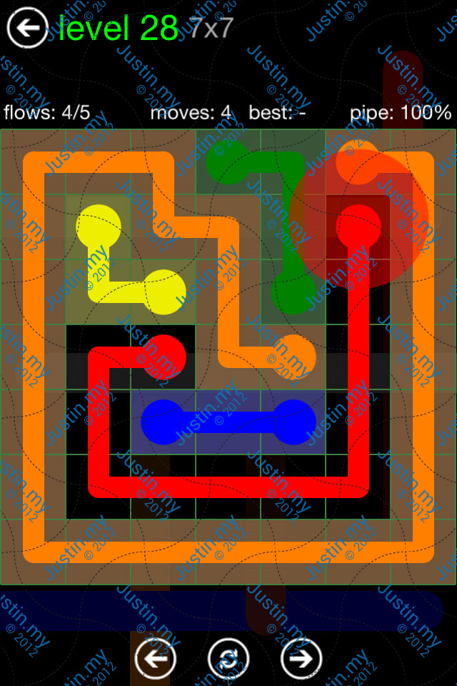 Flow Game Green Pack 7x7 Level 28