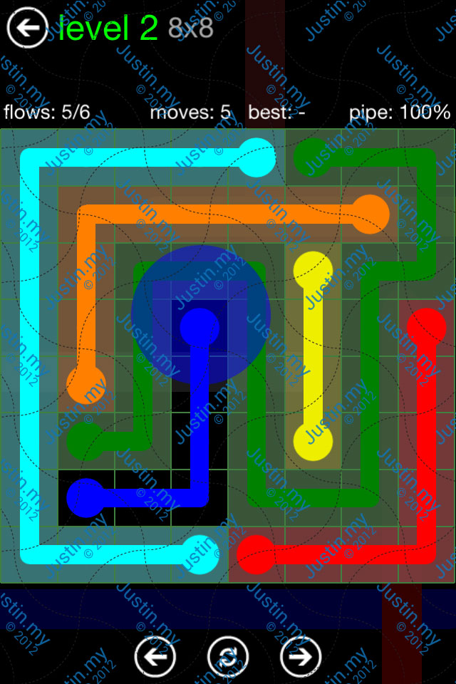 Flow Game Green Pack 8x8 Level 02