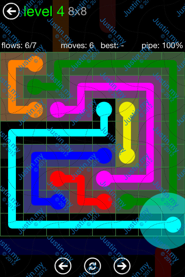 Flow Game Green Pack 8x8 Level 04