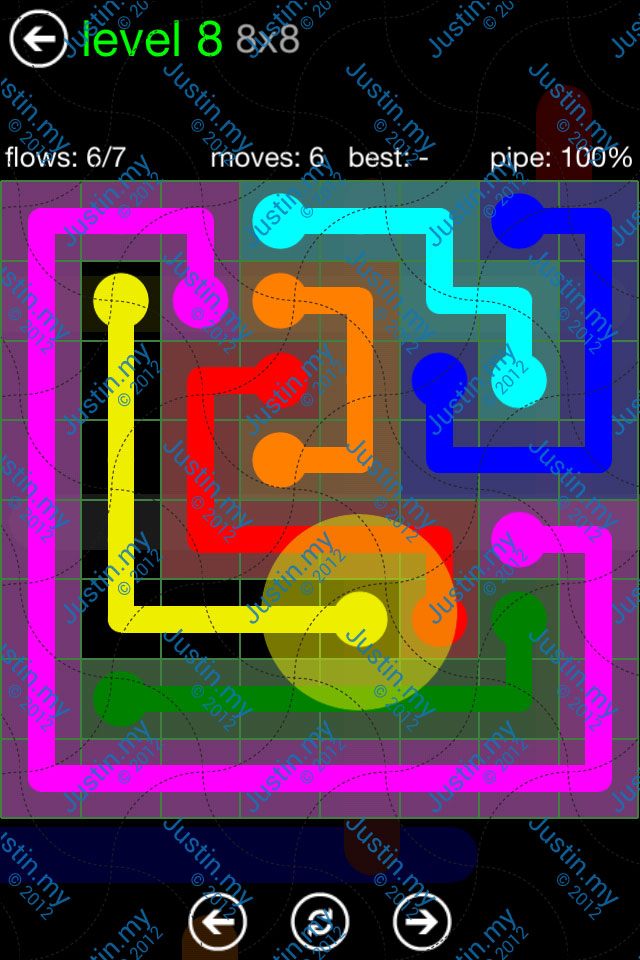 Flow Game Green Pack 8x8 Level 08