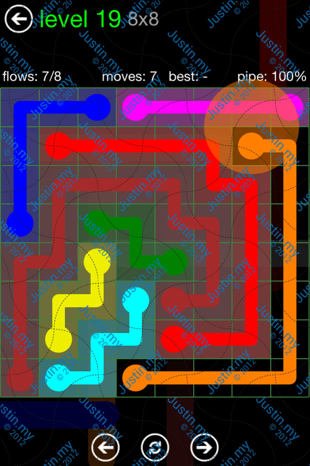 Flow Game Green Pack 8x8 Level 19