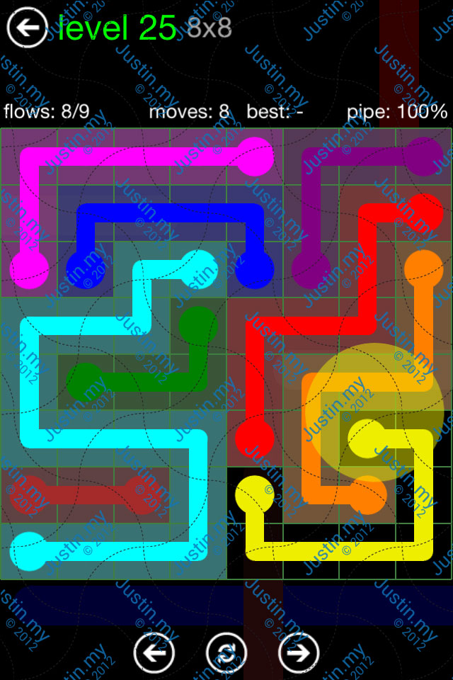 Flow Game Green Pack 8x8 Level 25