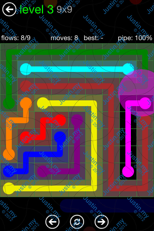 Flow Game Green Pack 9x9 Level 03