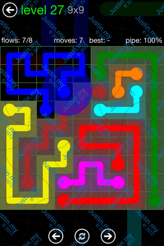Flow Game Green Pack 9x9 Level 27
