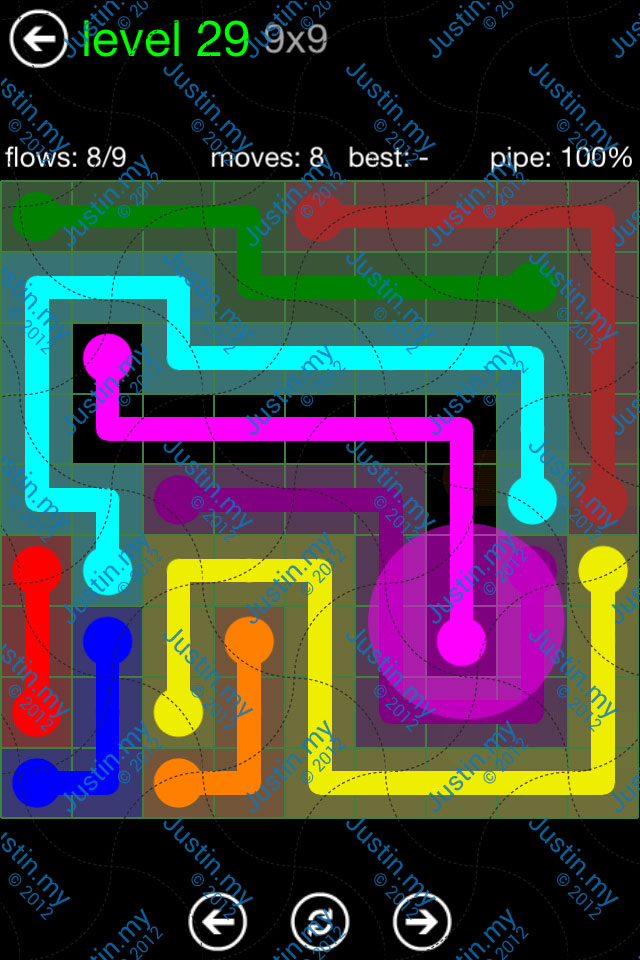 Flow Game Green Pack 9x9 Level 29