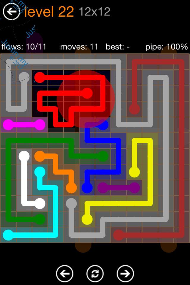 Flow Game Jumbo Pack 12x12 Level 22