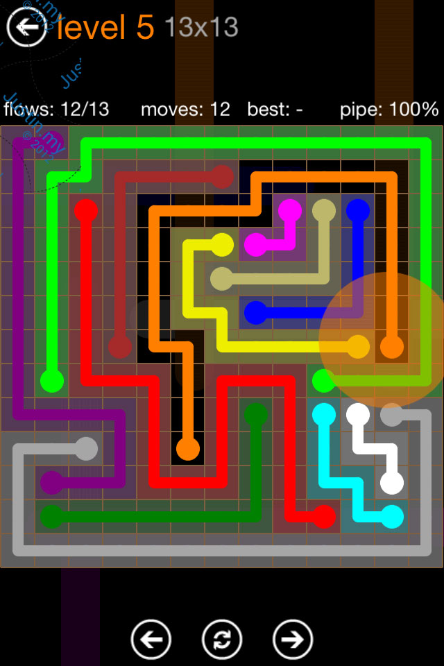 Flow Game Jumbo Pack 13x13 Level 05
