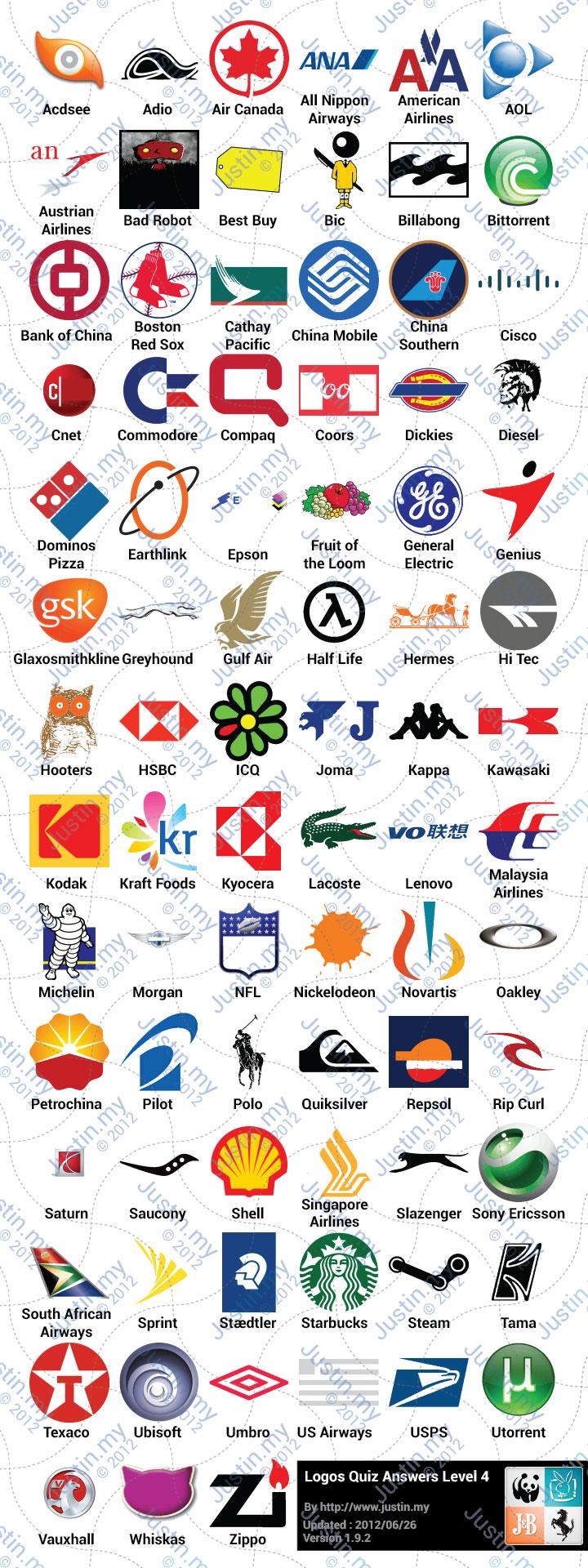 Logos Quiz Answers Level 4