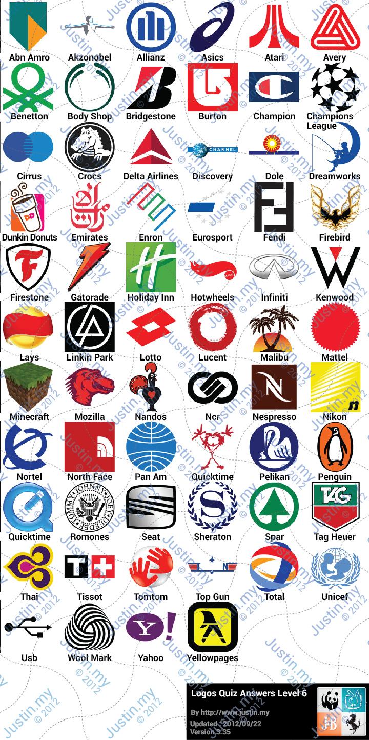 Logos Quiz Answers Level 6