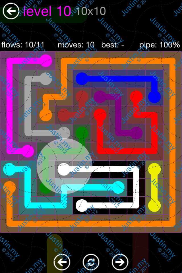 Flow Game Purple Pack 10x10 Level 10
