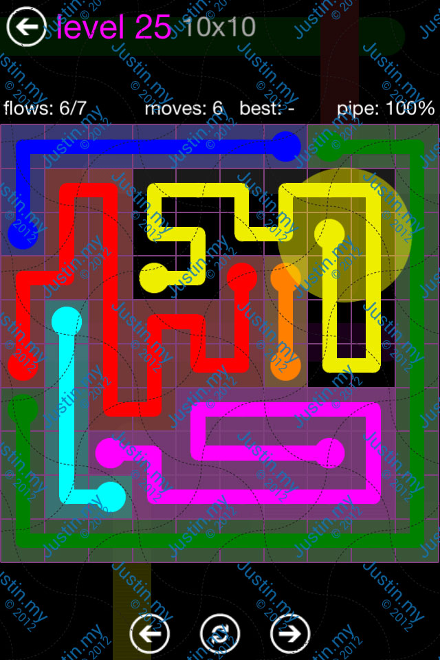Flow Game Purple Pack 10x10 Level 25