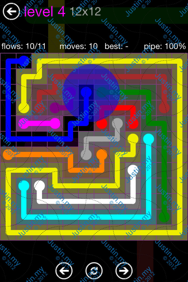 Flow Game Purple Pack 12x12 Level 04