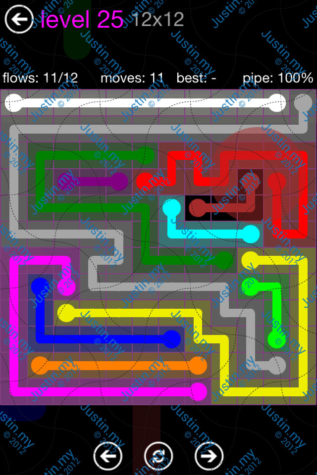 Flow Game Purple Pack 12x12 Level 25