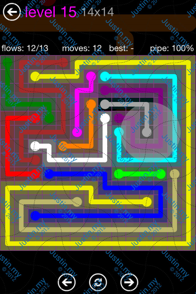 Flow Game Purple Pack 14x14 Level 15