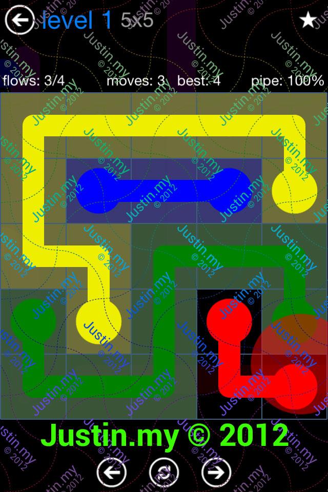 Flow Game Bonus Pack 5x5 Level 01