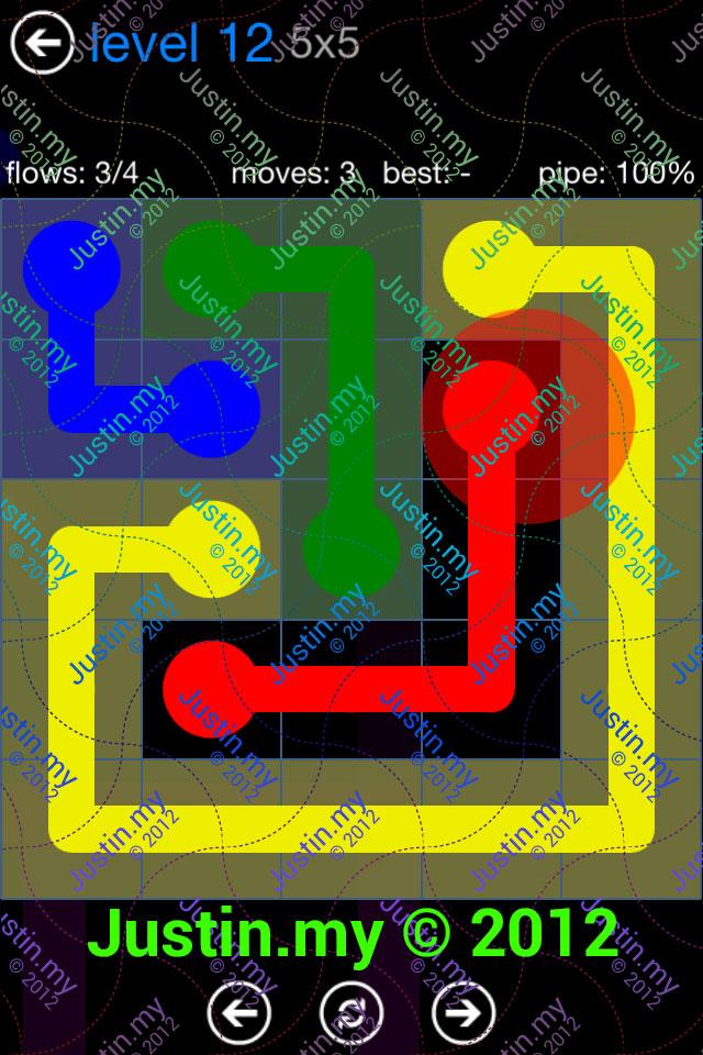 Flow Game Bonus Pack 5x5 Level 12