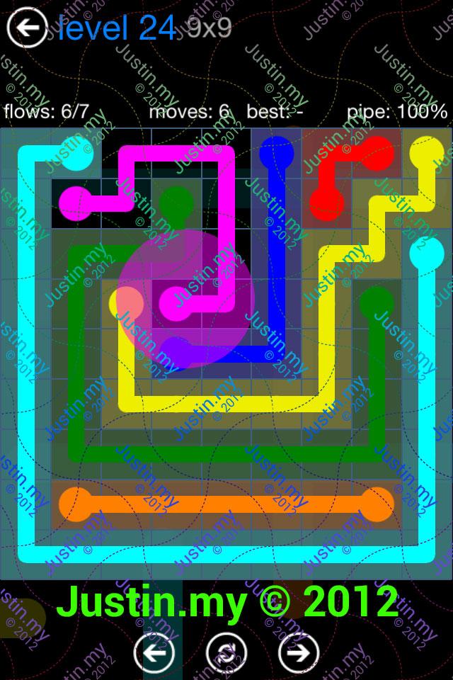 Flow Game Bonus Pack 9x9 Level 24