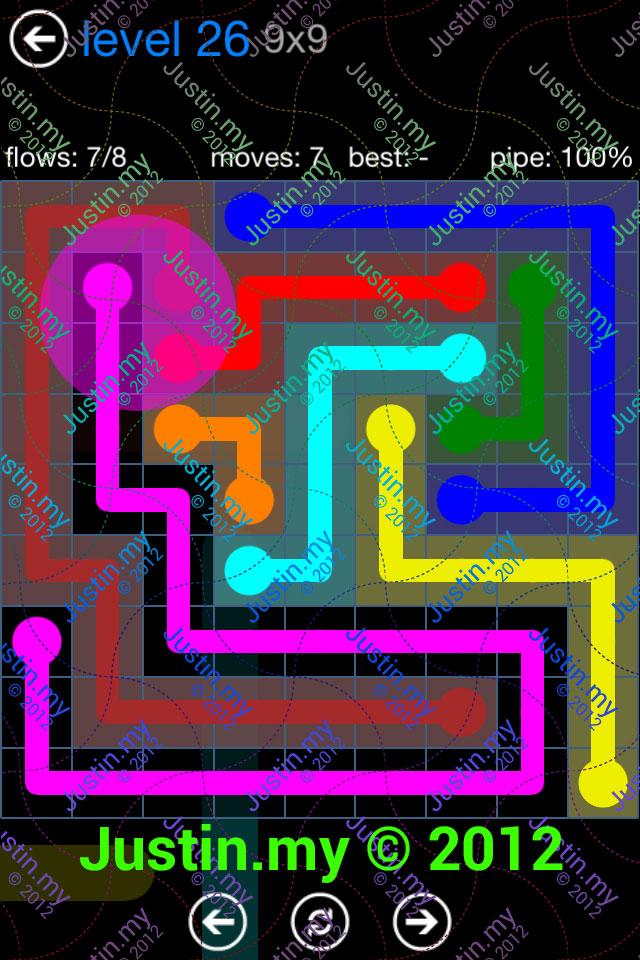 Flow Game Bonus Pack 9x9 Level 26