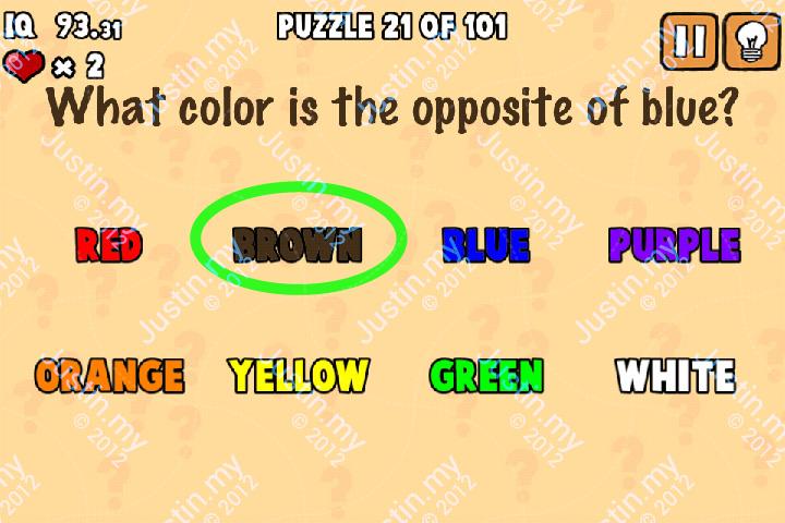 Whats My IQ Cheats Level 21