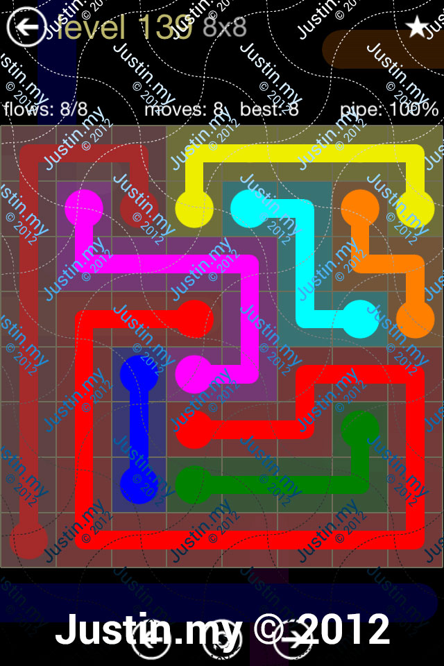 Flow 8x8 Mania Level 139