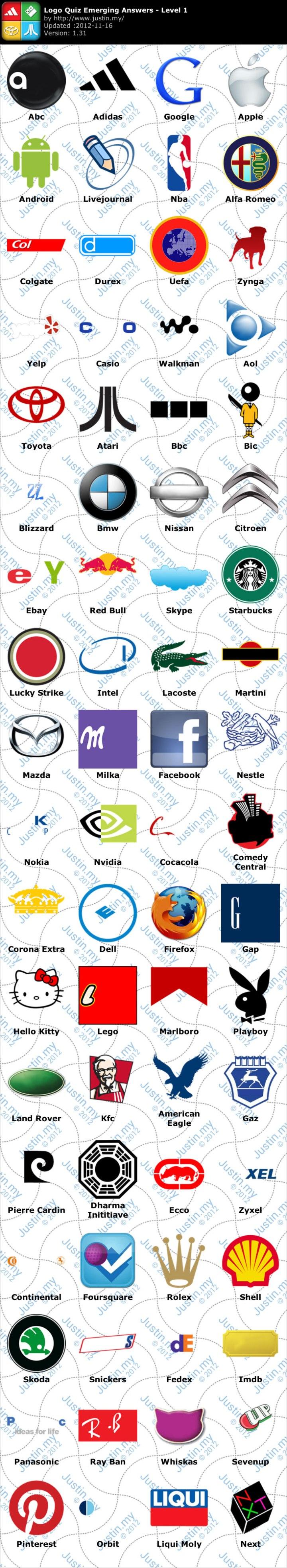 Logo Quiz Ultimate Logo Quiz Emerging Games Level 1