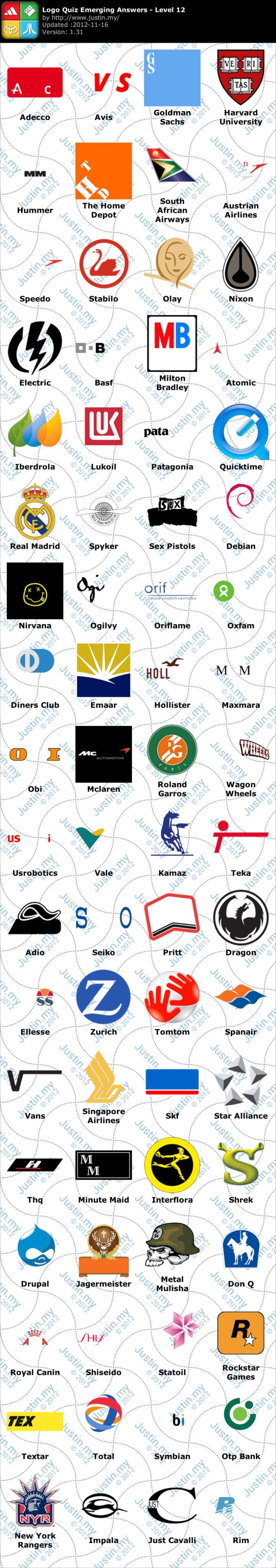 Logo Quiz Ultimate Logo Quiz Emerging Games Level 12